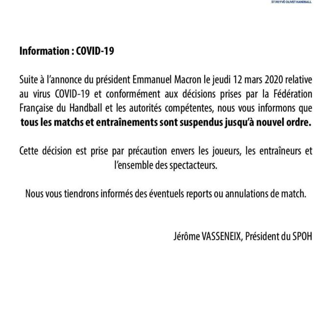 Communiqué : COVID-19